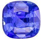 Truly Stunning Blue Sapphire Genuine Gemstone, 1.62 carats, Cushion Shape, 6.5 x 6.5 mm