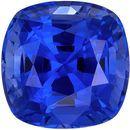 Super Fine Blue Sapphire Genuine Loose Gemstone in Cushion Cut, 1.63 carats, Intense Rich Blue, 6.4 mm