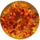 Gorgeous 1.93 carat Orange Sapphire Gemstone in Round Cut 7.1 mm
