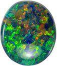 Attractive Opal Natural Gem, 10.3 x 8.9mm, Lightening Ridge Material, Oval Cut, 2.15 carats