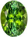 12.3 x 9.3 mm Green Tourmaline Genuine Gemstone in Oval Cut, Grass Green, 4.94 carats