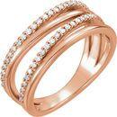 Buy 14 Karat Rose Gold 0.25 Carat Diamond Ring