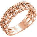 Buy 14 Karat Rose Gold 0.12 Carat Stackable Diamond Ring
