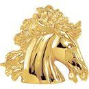 White Diamond Pendant in 14 Karat Yellow Gold The Lipizzaner Pendant