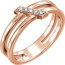 14 Karat Rose Gold .05 Carat Diamond Bar Ring