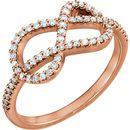 14 Karat Rose Gold 0.33 Carat Diamond Knot Ring
