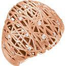 14 Karat Rose Gold 0.20 Carat Diamond Nest Design Ring