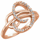 14 Karat Rose Gold 0.17 Carat Diamond Ring