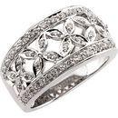 Diamond Ring in 14 Karat White Gold.33 Carat Diamond Band Size 4.5