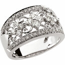 White Diamond Ring in 14 Karat White Gold 0.75 Carat Diamond Anniversary Band