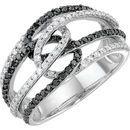 Diamond Ring in 14 Karat White Gold Black Rhodium Plated.75 Carat Black & Diamond Ring Size 11.5