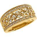 Diamond Ring in 14 Karat Yellow Gold 5/8 Carat Diamond Band Size 11