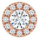 White Diamond Pendant in 14 Karat Rose Gold 1/3 Carat Diamond Pendant