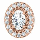 Diamond Pendant in 14 Karat Rose Gold 5/8 Carat Diamond Pendant