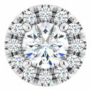 White Diamond Pendant in 14 Karat White Gold 1/3 Carat Diamond Pendant