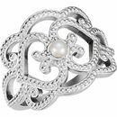Natural pearl Ring in 14 Karat Natural Gold Granulated Cultured Seed Pearl Ring