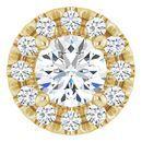 White Diamond Pendant in 14 Karat Yellow Gold 1/3 Carat Diamond Pendant