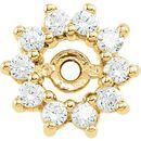 White Diamond Earrings in 14 Karat Yellow Gold 1/4 Carat Diamond Earring Jackets