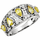 Deal on 14 KT White Gold Canary Yellow Sapphire & 0.33 Carat TW Diamond Ring