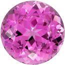 16.2 mm Pink Tourmaline Genuine Gemstone in Round Cut, Vivid Hot Pink, 19.2 carats