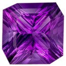 Must See 19.58 carats Purple Amethyst Emerald Genuine Gemstone, 17.5 x 17.4 mm