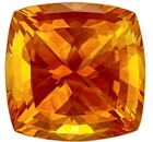 Terrific Buy on Orange Citrine Genuine Gemstone, 19.88 carats, Cushion Cut, 17.6 x 17.5  mm , Superb Stone - Low Price