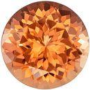 Unusual Color in 2.01 carats Peach Tourmaline Loose Gemstone in Round Cut, Rich Peach Color, 8.0 mm