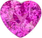 Lovely Rare Unheated GIA Certified Sapphire Natural Gem, 7.88 x 7.08 x 4.74 mm, Rich Pure Pink, Heart Cut, 2.01 carats