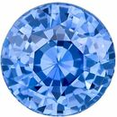 Deal on Genuine Loose Blue Blue Green Peach Sapphire Gemstone in Round Cut, 7.2 mm, Vivid Medium Blue, 2.03 carats