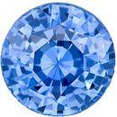 Deal on Genuine Loose Blue Blue Green Peach Sapphire Gemstone in Round Cut, 7.2 mm, Vivid Medium Blue, 2.03 carats