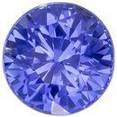 Beautiful No Heat Round Shape Blue Sapphire Gemstone, 2.09 carats, Medium Cornflower Blue Color, 7.19 x 7.06 x 5.3 mm, GIA Certified