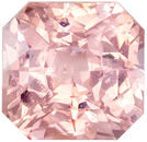 Very Pretty Untreated GIA Certified Sapphire Loose Gem, 2.09 carats, Peachy Pink, Radiant Cut, 6.68 x 6.51 x 4.84 mm