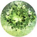 2.24 carats Green Tourmaline Loose Gemstone in Round Cut, Mint Green, 8.2 mm