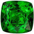 Gorgeous Gem in Tsavorite Garnet 2.31 carats, Cushion Cut, Fine Green Color Gemstone, 7.5  mm