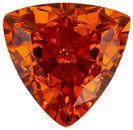 Faceted 2.44 carat Orange Spessartite Gemstone in Trillion Cut 8.5 mm