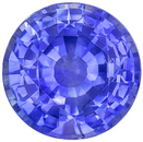 Bright & Lively Sapphire Quality Gem, 8.4 mm, Vivid Rich Blue, Round Cut, 2.68 carats
