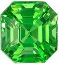 Very Attractive Tsavorite Loose Gem, 7.8 x 7.2mm, Minty Green, Emerald Cut, 2.68 carats