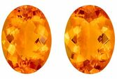 Quality Citrine Gemstone Pair, 28.53 carats, Oval Cut, 20 x 14.5 mm, Great Looking Stones
