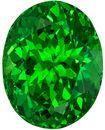 3.03 carats Tsavorite Loose Gemstone in Oval Cut, Vivid Rich Green, 9.3 x 7.3 mm