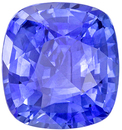 Eye Catching Sapphire Genuine Gem, 3.06 carats, Medium Cornflower Blue, Cushion Cut, 8.8 x 8.1mm