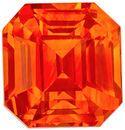 Crazy Intense Orange Colored Sapphire GIA Certified 3.06 carats Emerald Cut