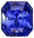 Authentic Blue Sapphire Gemstone, Radiant Cut, 3.07 carats, 7.8 x 7.2 mm , AfricaGems Certified - A Unique Beauty