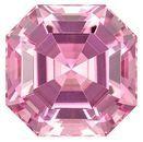 Natural Pink Tourmaline Gem, 3.09 carats, Emerald Cut, 8.3 x 8.3  mm , Very High Quality Gem