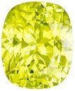 Popular 3.32 carats Yellow Chrysoberyl Cushion Genuine Gemstone, 9.4 x 7.7 mm