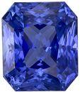 3.46 carats Blue Sapphire Loose Gemstone in Radiant Cut, Rich Blue, 8.4 x 7.1 mm