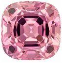 Genuine Pink Tourmaline Genuine Stone, 3.62 carats, Cushion Cut, 8.7 x 8.7  mm , Top Top Gem - Low Cost