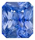 Faceted Blue Sapphire Gemstone, 3.65 carats, Radiant Cut, 8.7 x 7.5 mm, A Beauty of a Gem