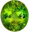 Apple Green Tourmaline Gemstone, Very Stunning Gem in 3.68 carats, Oval Cut in 10.5 x 9.3mm