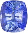 Brilliant Sapphire Quality Gem, 9.4 x 8.2mm, Medium Cornflower Blue, Cushion Cut, 3.83 carats