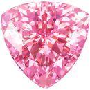 Genuine Pink Tourmaline 3.95 carats, Trillion shape gemstone, 10  mm